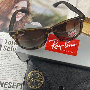 NWT RB2140 Polarized Leopard Print sunglasses50mm